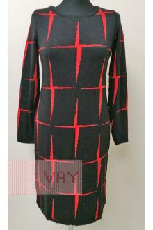 Платье женское 182-2339 Фемина (Черный/алый)