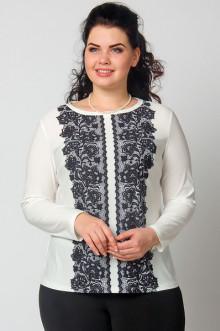 """Блуза """"СКС"""" 3752 (Молочный/черный)"""