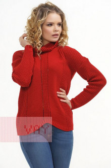 Свитер женский 4610 Фемина (Красный)
