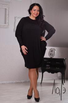 Платье 040803 ЛаТэ (Черный)