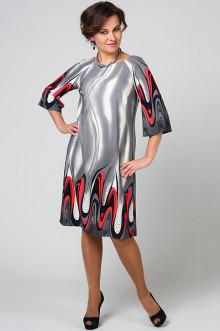 """Платье """"СКС"""" 4384/4 (Серый/черный/коралл)"""