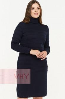 Платье женское 182-2336 Фемина (Темно-синий)